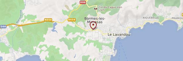 Carte Bormes-les-Mimosas - Côte d'Azur