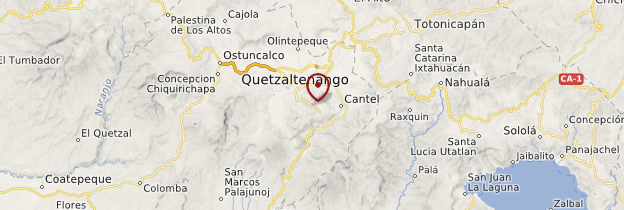 Carte Almolonga - Guatemala