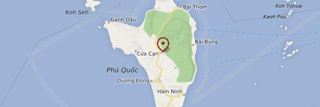 Carte Île de Phú Quốc - Vietnam