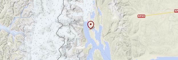 Carte Glacier Perito Moreno - Patagonie