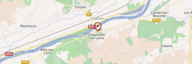 Carte Chaumont-sur-Loire - Châteaux de la Loire