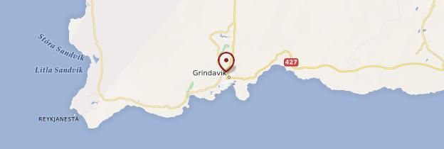 Carte Grindavík - Islande
