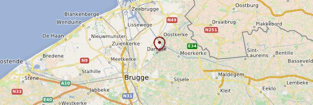 Carte Damme - Belgique