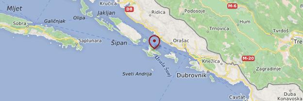 Carte île de Lopud - Croatie