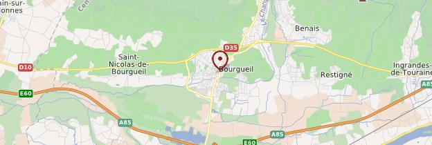 Carte Bourgueil - Châteaux de la Loire