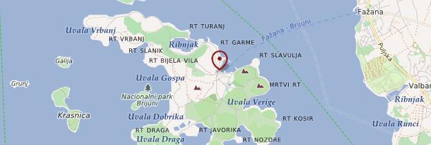 Carte Îles Brijuni - Croatie