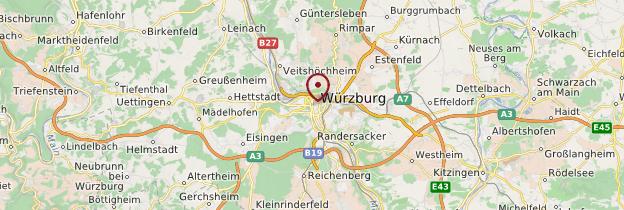 Carte Würzburg - Allemagne