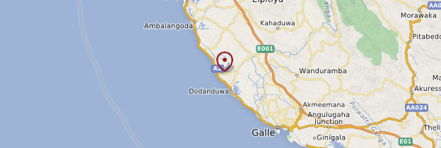 Carte Hikkaduwa - Sri Lanka