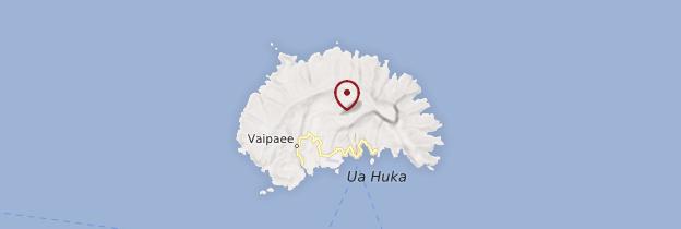 Carte Ua Huka - Polynésie française