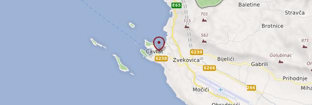 Carte Cavtat - Croatie