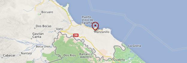 Carte Manzanillo - Costa Rica