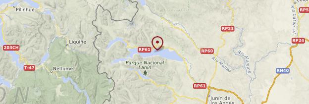 Carte Parc national Lanin - Patagonie