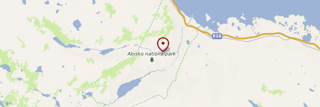 Carte Abisko National Park - Suède