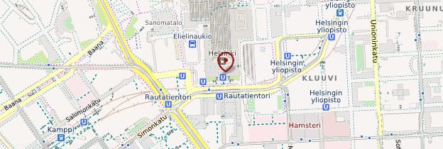 Carte Gare d'Helsinki - Finlande