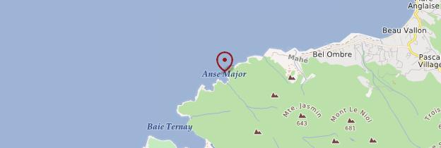 Carte Anse Major - Seychelles