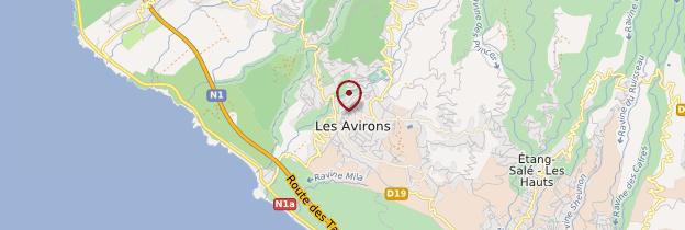 Carte Les Avirons - Réunion