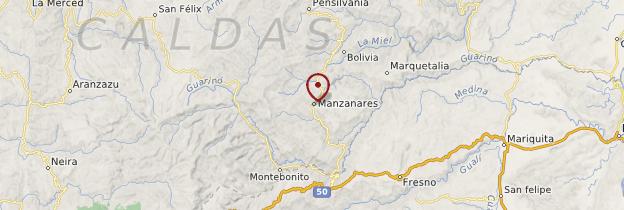 Carte Manzanares - Colombie
