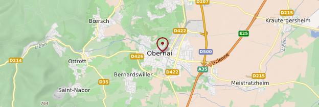 Carte Obernai - Alsace