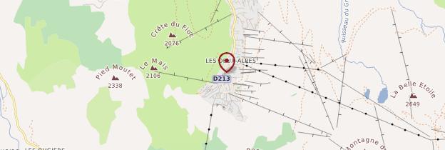 Carte Les Deux-Alpes - Alpes