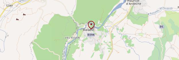 Carte Balazuc - Ardèche, Drôme