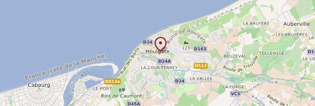 Carte Houlgate - Normandie