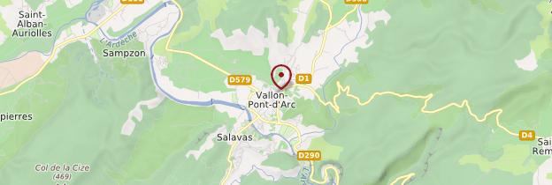 Carte Vallon-Pont-d'Arc - Ardèche, Drôme