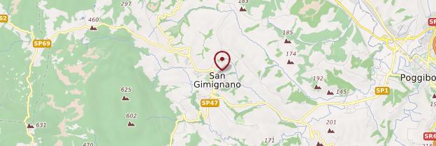 Carte San Gimignano - Toscane