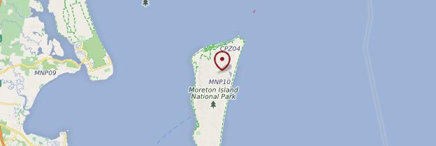Carte Moreton Island - Australie