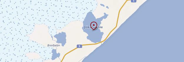 Carte Jökulsarlón - Islande