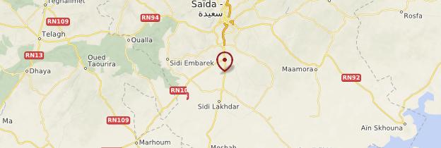 Carte El Golea - Algérie