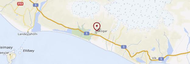 Carte Skógafoss - Islande
