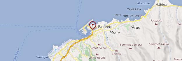 Carte Papeete - Polynésie française