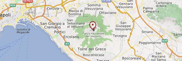 Carte Il Vesuvio (le Vésuve) - Naples
