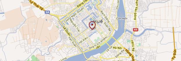 Carte Cité impériale de Huế - Vietnam