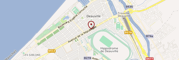Carte Deauville - Normandie