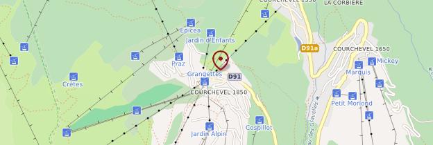 Carte Courchevel - Alpes