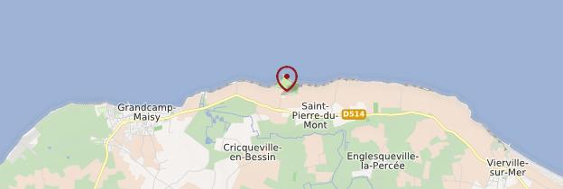 Carte Pointe du Hoc - Normandie
