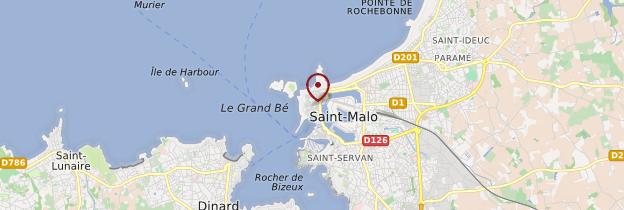 Carte Saint-Malo - Bretagne