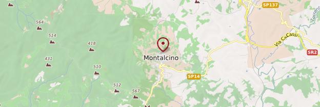 Carte Montalcino - Toscane