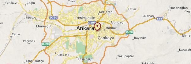 Carte Ankara - Turquie