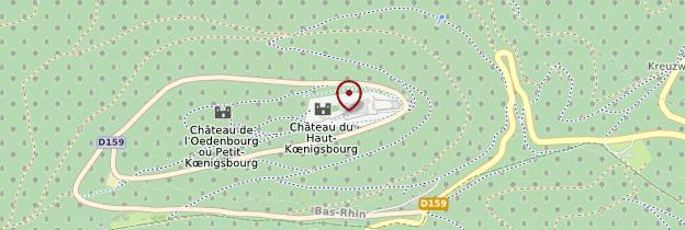 Carte Château du Haut-Kœnigsbourg - Alsace