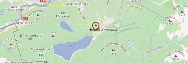 Carte Château de Hohenschwangau - Allemagne