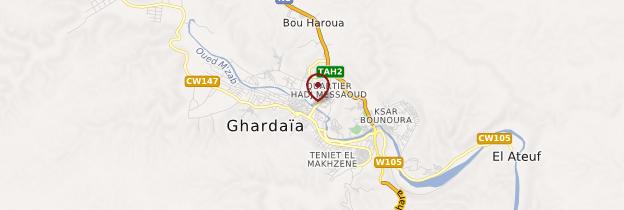Carte Ghardaïa - Algérie