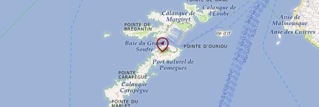 Carte Iles du Frioul - Marseille