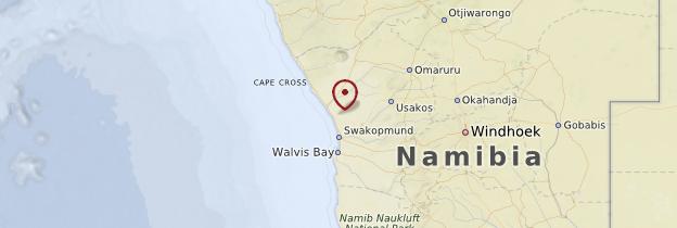 Carte Côte atlantique - Namibie