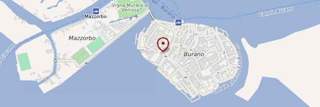 Carte Burano - Venise