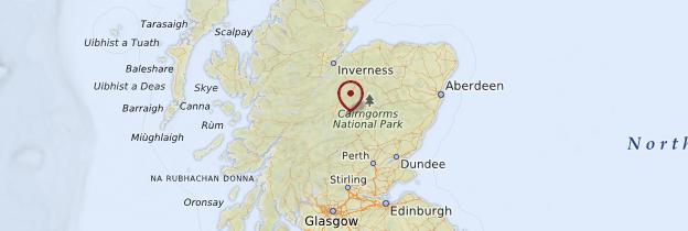 Carte Grampians - Écosse