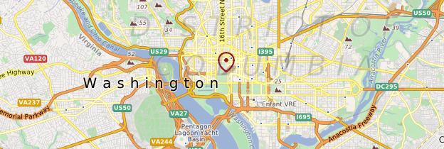 Carte Washington D.C. - États-Unis