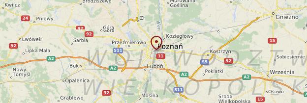 Carte Grande Pologne et Poméranie - Pologne