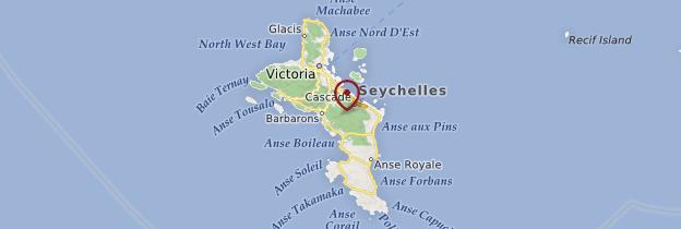 Carte Mahé - Seychelles